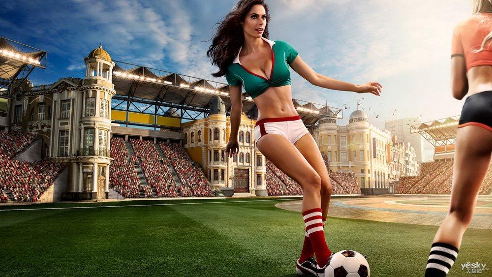 2014巴西世界杯足球宝贝壁纸