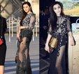 范冰冰秀美腿 只是微博照和现场图有点差别_中国女明星