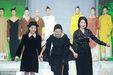 2018春夏中国国际时装周 49岁翁虹穿喇叭袖长裙走秀_活动现场