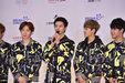 BTOB亮相品牌发布会 动感装扮帅气有型_韩国男明星