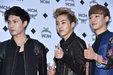 EXO亮相品牌发布会 个个造型精致帅气_韩国男明星
