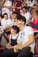 吴尊带NeiNei看世界杯 脸上画着俄罗斯的国旗_娱乐组图