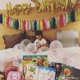 贾静雯修杰楷为����庆祝三岁生日 小公主超可爱_娱乐组图