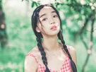 """小清新mm户外写真 网友赞""""甜美小玉女""""-校园春色"""