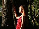 长裙美女森系写真 气质像原始森林般自然纯净-小清新