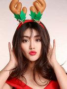 余薇薇圣诞写真大片曝光-中国女明星