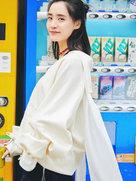 王智氧气系街拍超养眼 笑容清新青春洋溢-中国女明星