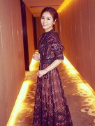 林心如薄纱长裙仙气足 完美衬托优雅气质-中国女明星