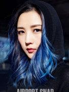 何洁二次元新发色 少女感满满-中国女明星