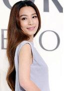 田馥甄蓝灰露背长礼服 性感气质优雅女神范-中国女明星
