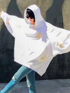 48岁许晴穿卡通卫衣卖萌 阳光下的她好美-中国女明星