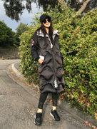 范冰冰穿一身黑色羽绒服难掩气场-中国女明星