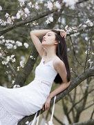 水晶曝春日写真-中国女明星