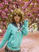 可爱动漫 小泉花阳 星座未觉醒 谢谢你陪我看这场樱花-cosplay女生