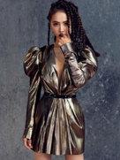 蔡依林黑辫子造型复古霸气 手臂画纹身超酷-中国女明星