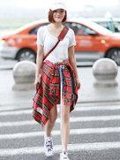 袁姗姗化身衬衫教科书 男友衬衣就要这样穿-中国女明星
