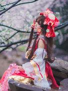 东方project 博丽灵梦 �@与巫女【�@花乱舞 于春而启】-cosplay女生