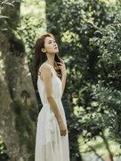张雯森林写真曝光 氧气纯净似精灵-中国女明星