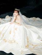 沈梦辰压轴某品牌的婚纱大秀 唯美大气楚楚动人-中国女明星