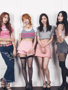 人气女子组合Dal shabet时尚写真 修长美腿媲美模特-韩国女明星