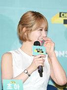 韩女团AOA携新歌出席发布会 获粉丝称赞心情大好-韩国女明星