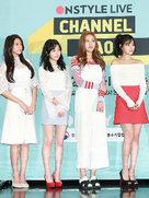 AOA出席某品牌发布会 一身白裙变身清纯小公主-韩国女明星