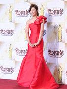 APINK红色晚礼服盛装出席发布会 气质出众令人惊艳-韩国女明星