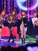 EXID演唱会点燃现场 细直美腿占了画面三分之二-韩国女明星