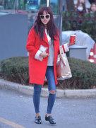 APINK又一波街拍美照 造型时髦非常好看-韩国女明星