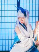 cosplay动漫女神 阴阳师 雪女-cosplay女生
