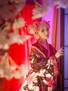 cosplay摄影和服 王者荣耀 孙尚香花魁-cosplay女生