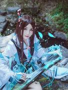 剑侠情缘网络版叁 长歌 雪河琴萝 高清cosplay-cosplay女生