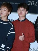 EXO亮相发布会 似邻家男孩清爽帅气-韩国男明星