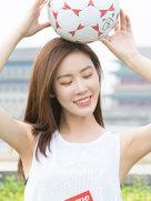 """李珂""""世界杯""""运动写真 翩跹优雅尽显少女气息-中国女明星"""