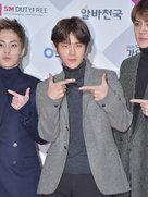 EXO现身品牌发布会 现场女粉丝尖叫不停-韩国男明星