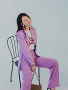 高圆圆完美驾驭紫色 笑容迷人女神范儿十足-中国女明星