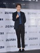 EXO亮相某发布会现场 黑色西装帅气绅士-韩国男明星