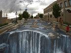 世界上最大街头3D立体画-创意趣图