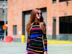 如何将条纹穿出时尚感-服饰搭配