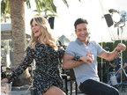克里斯蒂现身《Extra》花裙秀美腿 与马里奥洛佩兹相挎踢腿-娱乐组图