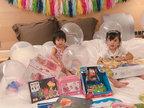 贾静雯修杰楷为����庆祝三岁生日 小公主超可爱-娱乐组图