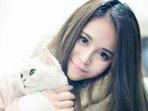 气质mm与宠物猫拍写真 有爱心的姑娘最漂亮-潮人