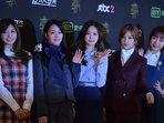APINK靓丽出席发布会 穿搭美到天际-韩国女明星