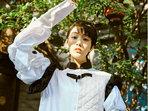 陈�v文曝光最新写真 古典与时尚双重结合-中国女明星
