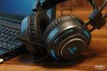 炫酷RGB光谱循环  雷柏VH600游戏耳机图赏_外设酷品秀