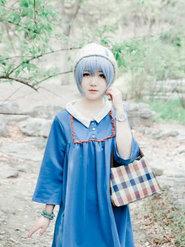 少女动漫 蓝裙少女 绫波丽 居家感的丽你们喜欢吗