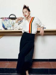 童苡萱拍摄的一组时尚大片新鲜出炉 俏皮灵动