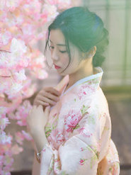 和服少女写真 清新淡雅被赞氧气摄影