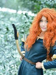 动漫摄影 cosplay勇敢传说 梅利达