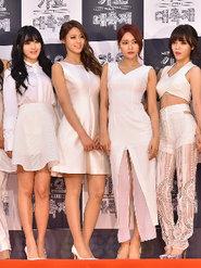 女團AOA一襲白裙出席發布會 清純美貌超吸睛